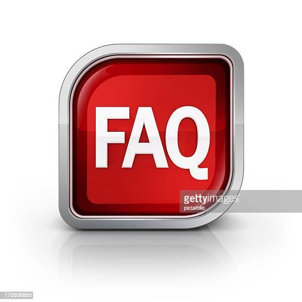 square faq glossy icon