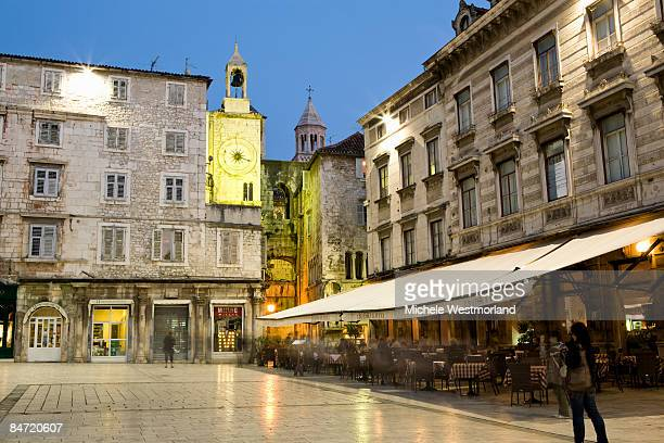 Square in central Split, Croatia