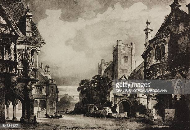 Square in London sketch for Act I Scene I of the opera Maria Tudor by Carlo Gomes Season 1879 from 500 stage design sketches in five volumes by Carlo...