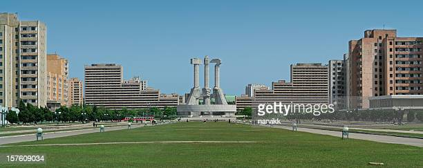 Square in Pyongyang, Capital of North Korea
