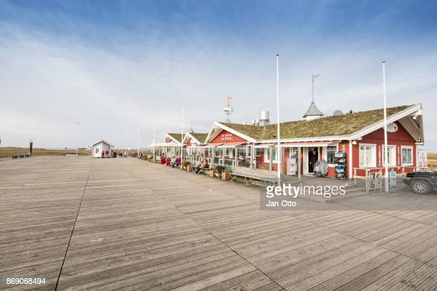 Square in St. Peter-Ording, Germany with restaurant