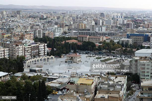 A square in the city of Sanliurfa south eastern Turkey