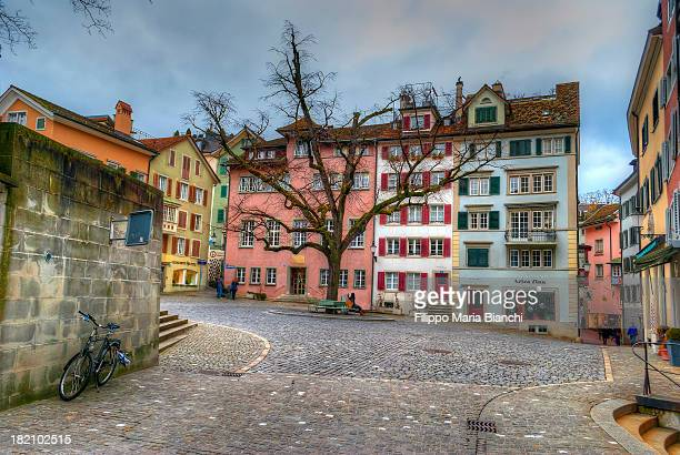 a square in zurich - zurich stock pictures, royalty-free photos & images