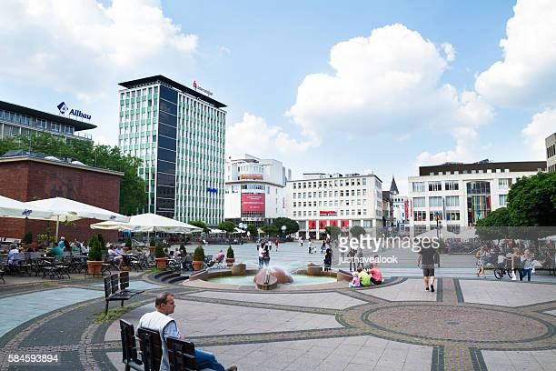 square kennedy platz in city essen - essen germany stock pictures, royalty-free photos & images
