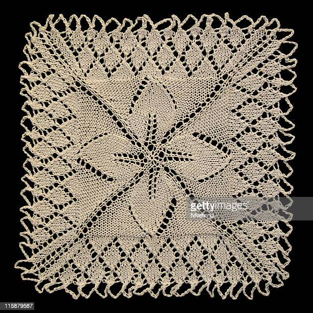 square knitted doily