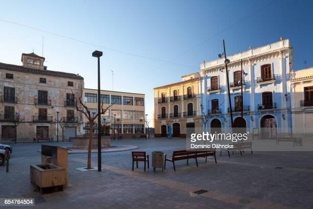 Square of 'Chelva' town, in Valencian community (Spain)