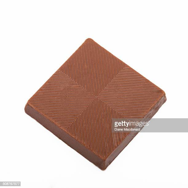 A square of milk chocolate