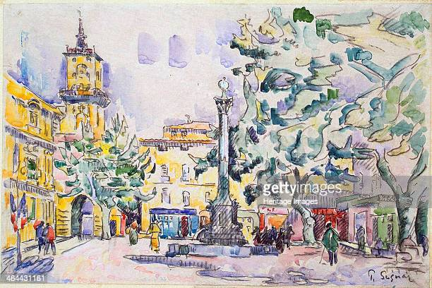 'Square of the Hotel de Ville in AixenProvence' early 20th century Signac Paul Found in the collection of the State Hermitage St Petersburg