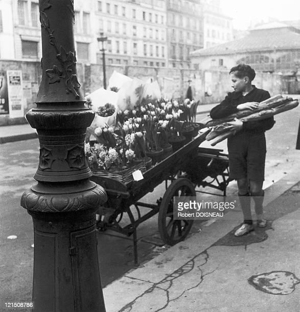 Square Of The SaintHonore Market Paris 1946