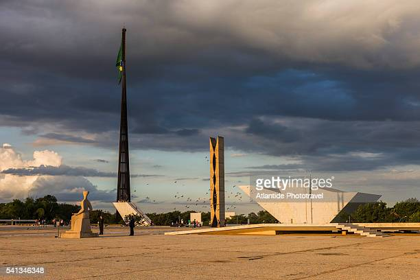 Square of the Three Powers in Brasilia, Brazil