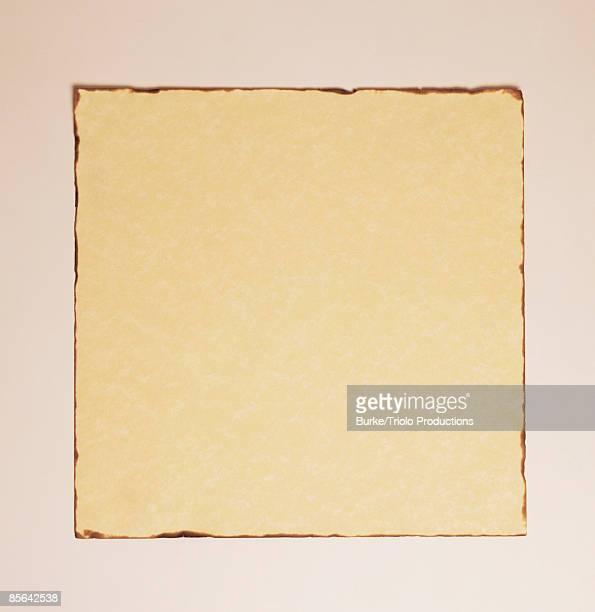 Square parchment paper