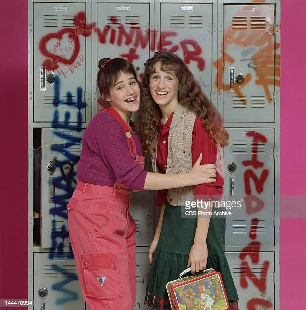 Square Pegs a CBS situation comedy featuring Amy Linker as Lauren Hutchinson and Sarah Jessica Parker as Patty Greene Image dated 1982
