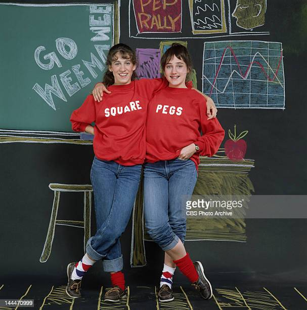 Square Pegs a CBS situation comedy featuring Sarah Jessica Parker as Patty Greene and Amy Linker as Lauren Hutchinson Image dated 1982