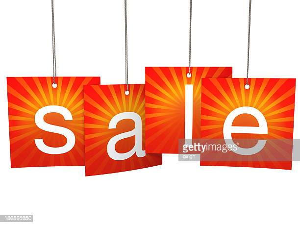 Square summer hanging sale tags