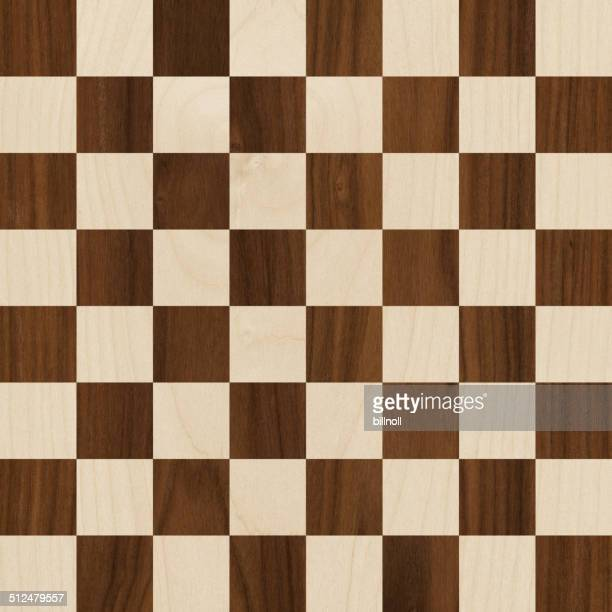 64 square wood checkerboard