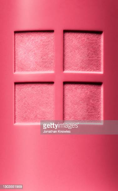 squares carved in pink lipstick - carving craft product stock pictures, royalty-free photos & images