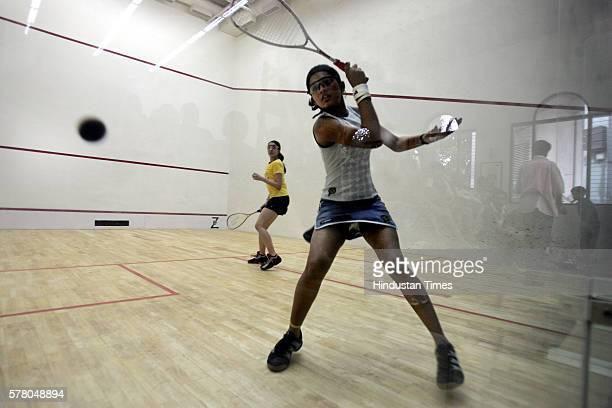 Squash player Deepika Pallikal during her match at CCI on Friday