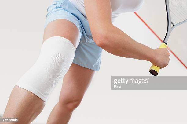 Squash Player with Knee Injury