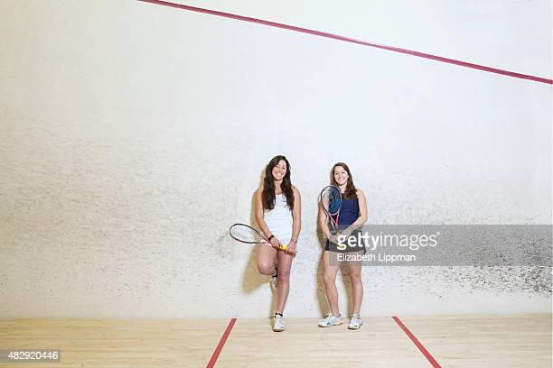 Squash players Amanda Sobhy and Sabrina Sobhy are photographed for Boston Globe on January 22 2015 in New York City PUBLISHED IMAGE