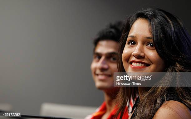Squash players Saurav Ghosal and Dipika Pallikal during a press conference to announce the JSW Indian Squash Challenger Circuit on September 10 2014...