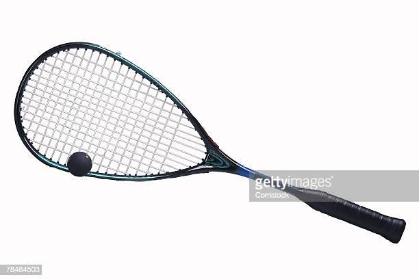 Squash racket and ball