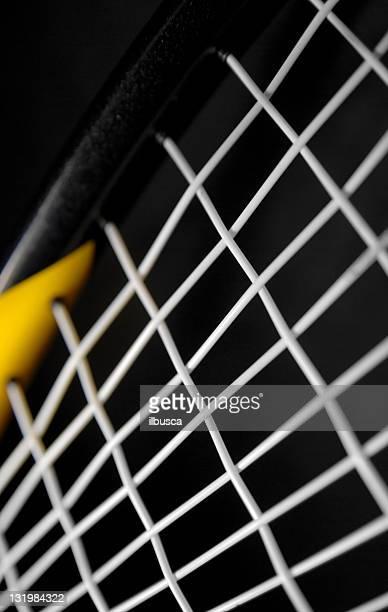 Squash tennis background on black
