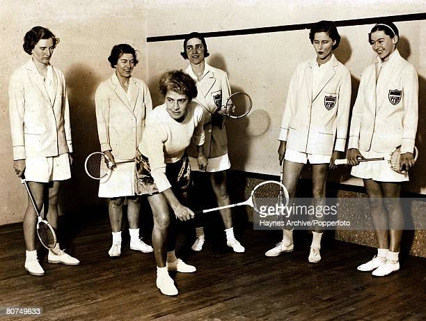 Squash The American womens squash team which is to tour the UKpictured training in London England 21st February 1936
