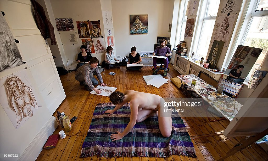 Squatters lead a life-drawing class in premises above the
