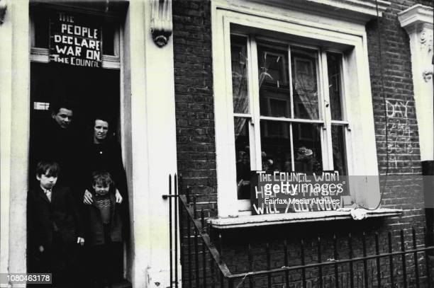 Squatters to comeJim and Bridie Matthews with nine year old John O'Shannon and four year old Jimmy MatthewsOthers are more activist and Notting Hill...