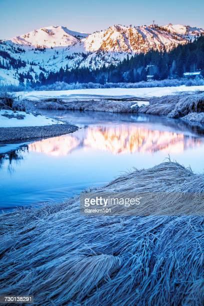 squaw valley ski resort, lake tahoe, california, america, usa - lake tahoe stock photos and pictures