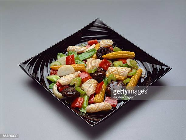 Squid and vegetables