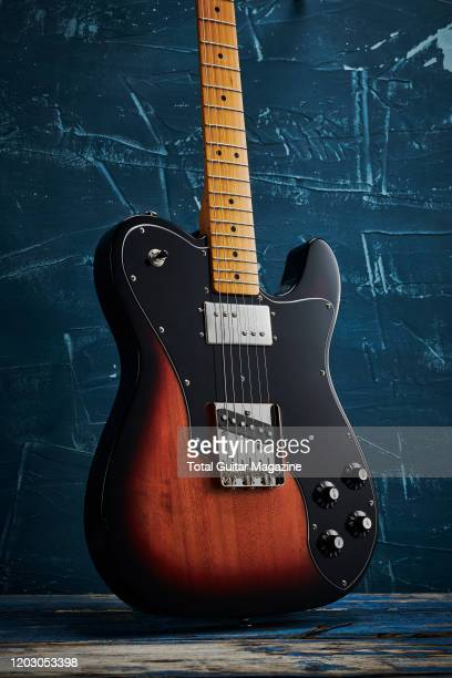 Squier Classic Vibe 70s Telecaster Custom electric guitar with a 3-Colour Sunburst finish, taken on July 22, 2019.