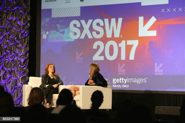Sr Media and Entertainment Correspondent Julia Boorstin and founder and CEO of Outdoor Voices Tyler Haney speak onstage at 'Fitness and Fashion...