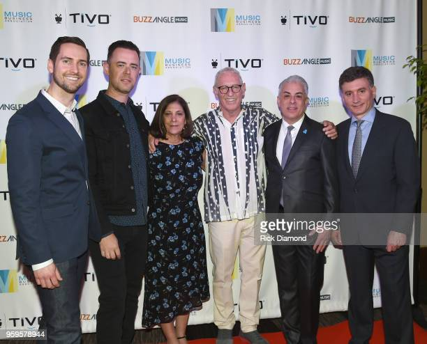 Sr Product Manager at TiVo Kyle Smetanka actor Colin Hanks Patti Solomon Michael Solomon President of Music Business Association James Donio and CEO...