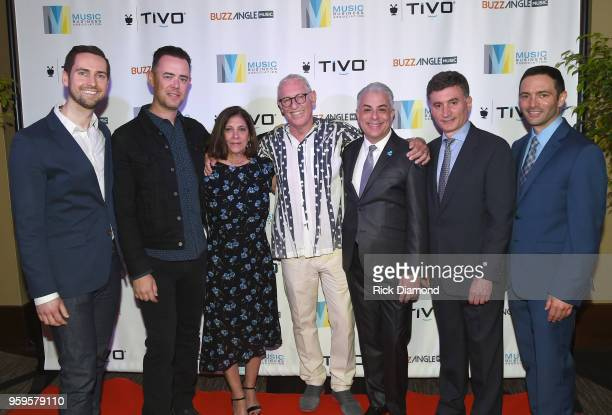 Sr Product Manager at TiVo Kyle Smetanka actor Colin Hanks Patti Solomon Michael Solomon President of Music Business Association James Donio CEO of...