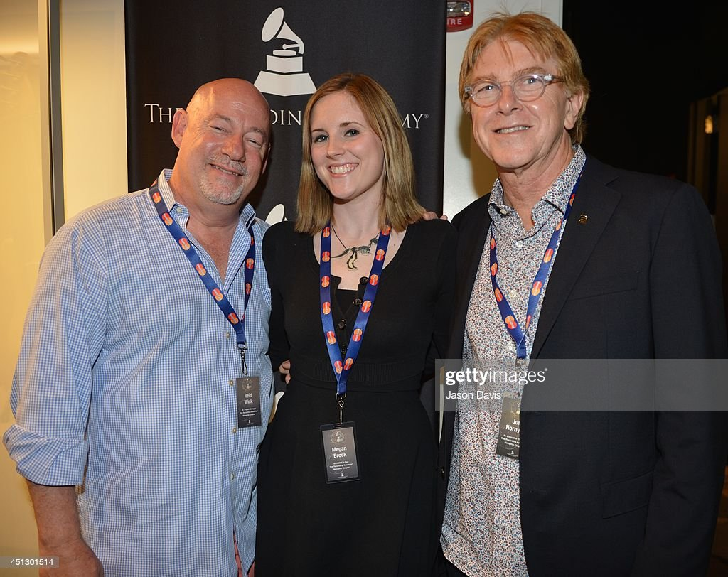 Sr. Project Manager (Memphis Chapter) The Recording Academy Reid Wick, GrammyU Rep Megan Brook and Sr. Executive Director (Memphis Chapter) The Recording Academy Jon Hornyak attend Memphis Membership Celebration at Stax Museum on June 26, 2014 in Memphis, Tennessee.