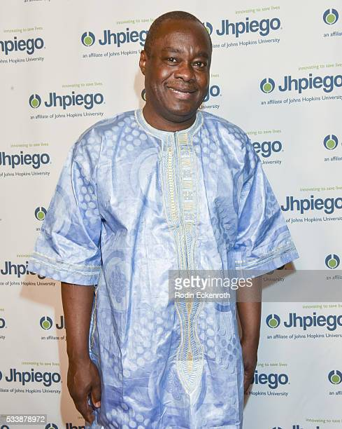 Sr Vice President Dr Alain Damiba attends Jhpiego's 'Laughter Is The Best Medicine' Arrivals at the Beverly Wilshire Four Seasons Hotel on May 23...