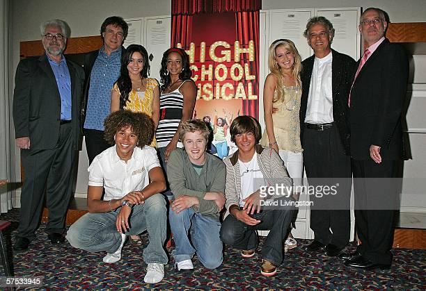 Sr. Vice president of original programming for the Disney Channel Michael Healy, writer Peter Barsocchini, actresses Vanessa Anne Hudgens, Monique...