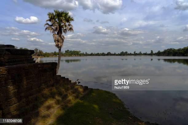srah srang, siem reap, cambodia - 湖 stock pictures, royalty-free photos & images