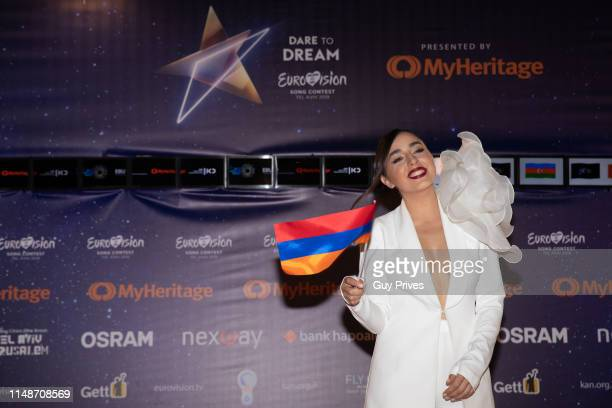 Srbuk of Armenia arrives at the 64th Eurovision Song Contest held at Tel Aviv Fairgrounds on May 12 2019 in Tel Aviv Israel