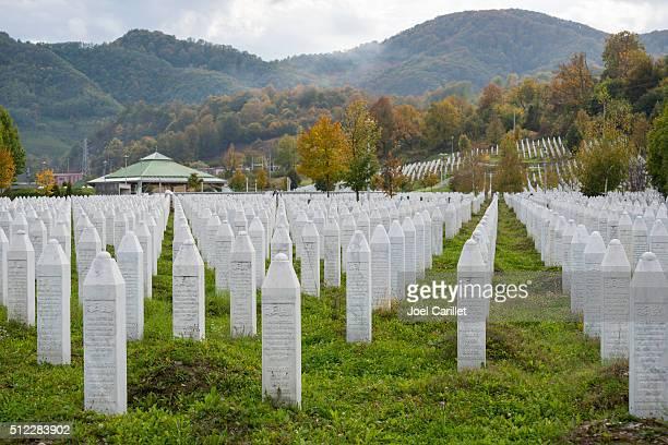 Srebrenica massacre and cemetery in Bosnia