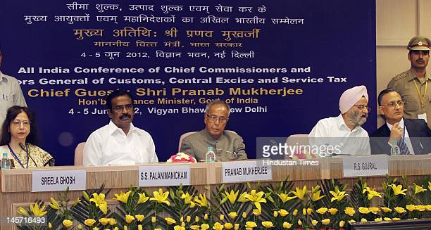 Sreela Ghosh Member CBEC, S.S. Palanimanickam Minister of State for Finance, Finance Minister Pranab Mukherjee, R.S. Gujral Finance Secretary, S.K....