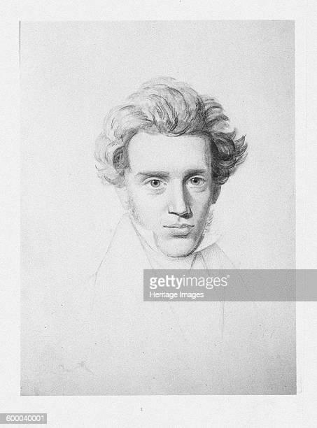 Søren Kierkegaard , c. 1840. Private Collection. Artist : Kierkegaard, Niels Christian .