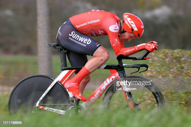 Søren Kragh Andersen of Denmark and Team Sunweb / during the 78th Paris - Nice 2020, Stage 4 a 15,1km Individual Time Trial from Saint-Amand-Montrond...