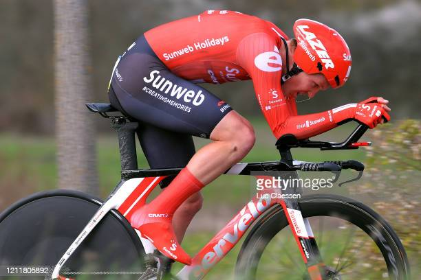 Søren Kragh Andersen of Denmark and Team Sunweb / during the 78th Paris Nice 2020 Stage 4 a 151km Individual Time Trial from SaintAmandMontrond to...