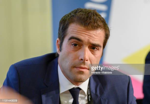Sérgio Martins Alves secretarygeneral of Chamber of Commerce PortugalChina participates in a discussion panel at 'Open Days PME Connect' business...