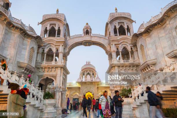 sri krishna-balaram mandir temple. vrindavan, india - krishna stock photos and pictures