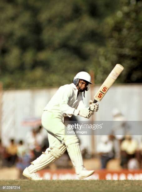 Sri Lanka batsman Arjuna Ranatunga picks up some runs during day one of the one off Test Match between Sri Lanka and England at the P Sara Oval on...