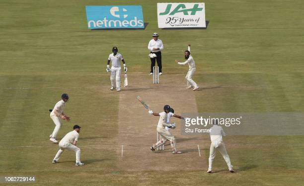 Sri Lanka batsman Roshen Silva looks on as he is caught by Joe Root at slip off the bowling of Moeen Ali during Day Four of the Second Test match...