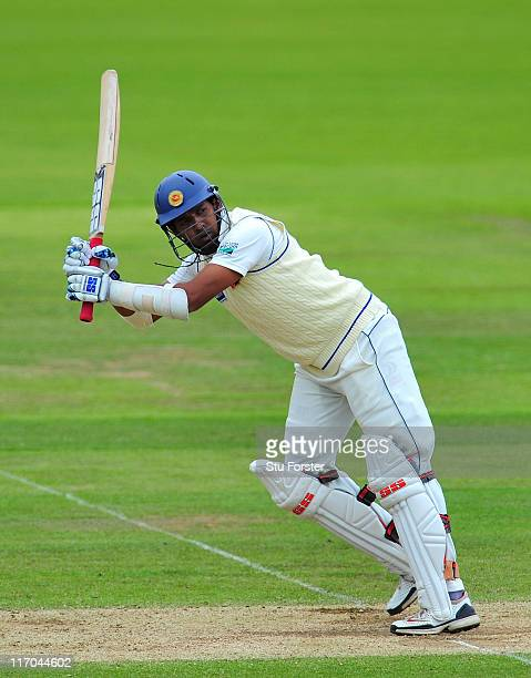 Sri Lanka batsman Thilan Samaraweera picks up some runs during day five of the 3rd npower test between England and Sri Lanka at the Rosebowl on June...